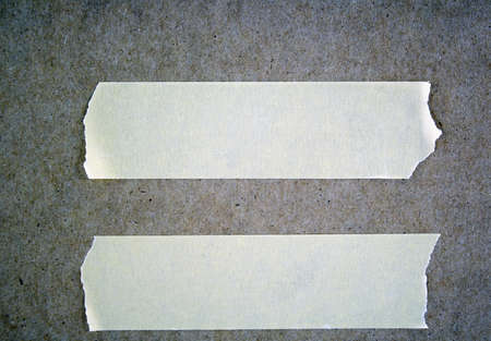 masking: Strips of masking tape for signs and notes Stock Photo