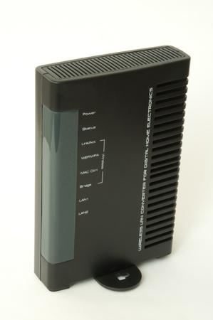 adsl: black adsl casing isolated on white background