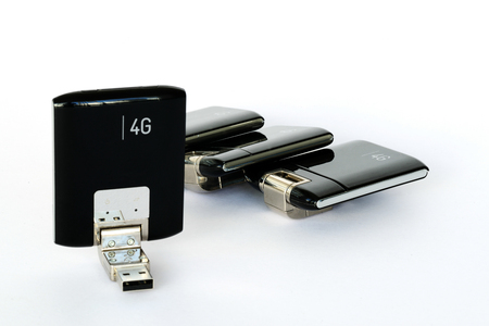 gprs: Closeup image of USB GPRS 3G 4G Wireless Modems