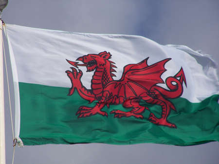 welsh dragon drapeau. Banque d'images - 813323