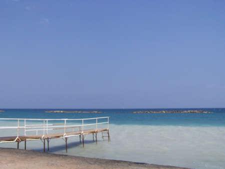 limassol: Jetty. on limassol beach, cyprus.