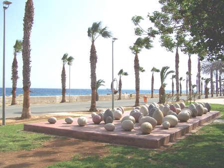commemorative: Commemorative egg sculptures in cyprus.