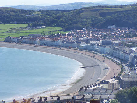 View of Llandudno bay, taken from the great orme. photo