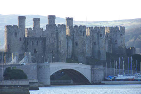 Conwy castle. With the tide in.