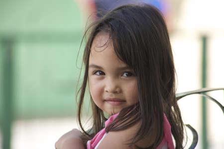 enigmatic: Cute enigmatic little girl