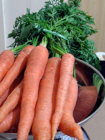 fresh weight of carrots Stock Photo