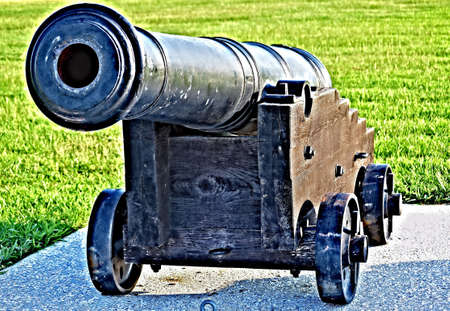 Cañón de la guerra civil Foto de archivo - 14441550