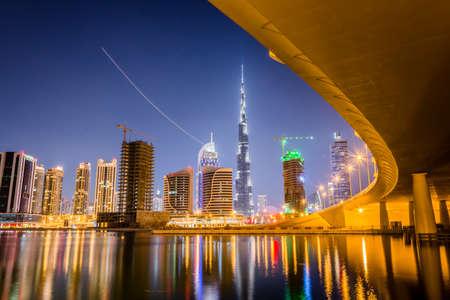 Skyline di Dubai Archivio Fotografico - 27714773