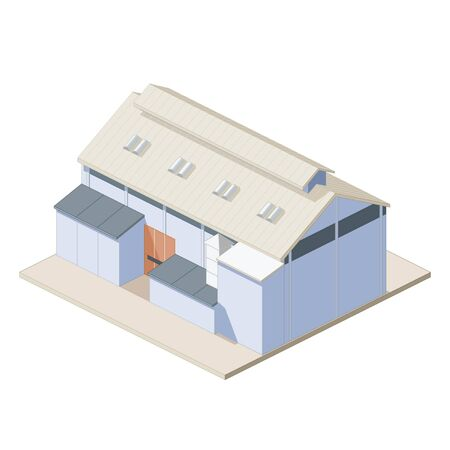 depository: Isometric depot icon