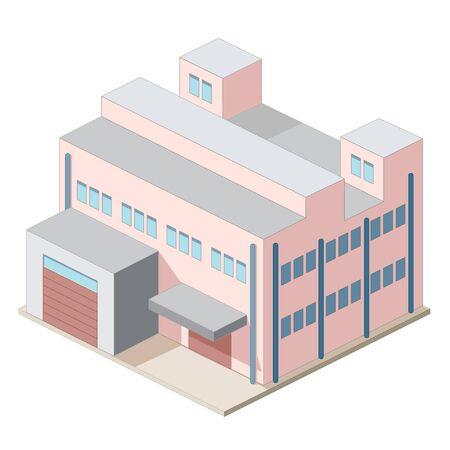 産業用建物の等尺性のアイコン