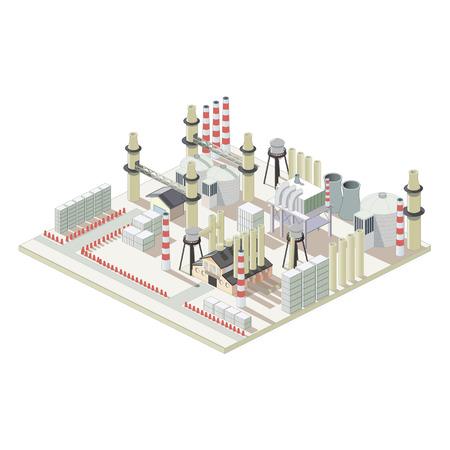 Isometrische industriellen Fabrik Karte