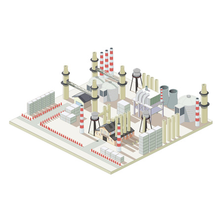 Isometric industrial factory map Illustration