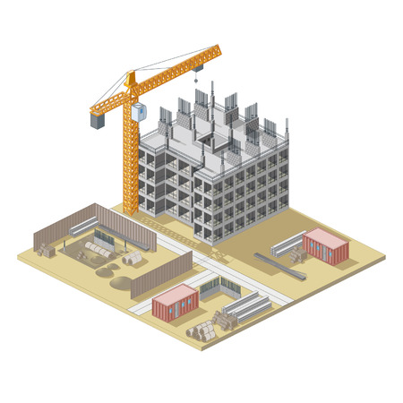 site: Isometrical construction site map