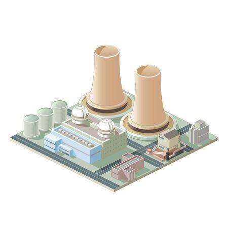 Isometrical 原子力発電所の地図