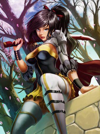 female street fighter