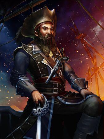 gold mine: captain  pirate ship