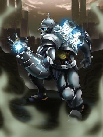 trooper: future mercenary Stock Photo