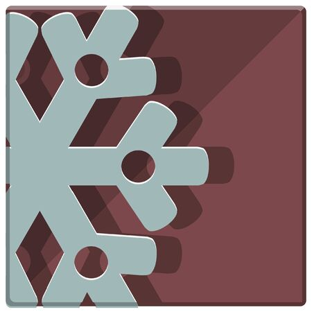 holiday celebrations: christmas snowflake  simple icon