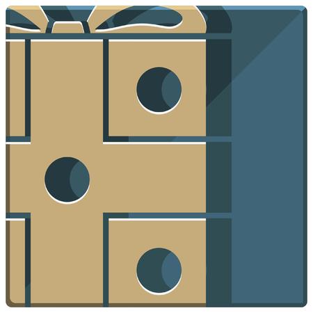 christmas present: christmas gift box simple icon