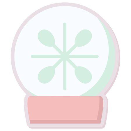 snowglobe: christmas cute snowglobe sticker icon