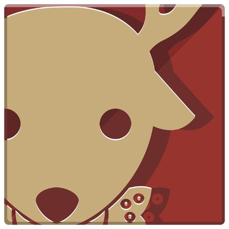 christmas icon: christmas reindeer simple icon Illustration