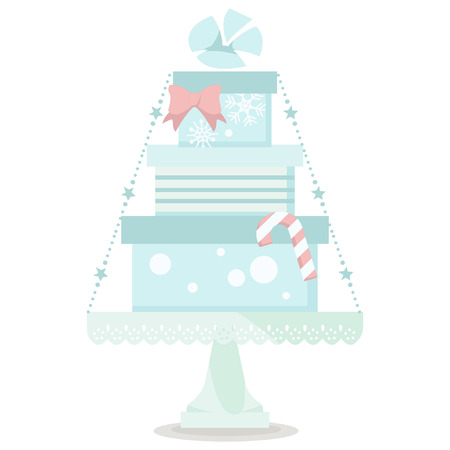 christmas gifts: christmas cute  blue pile of gifts icon