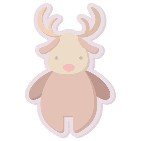 christmas icon: christmas cute reindeer sticker icon