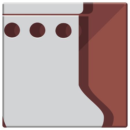 christmas icon: christmas stocking simple icon Illustration
