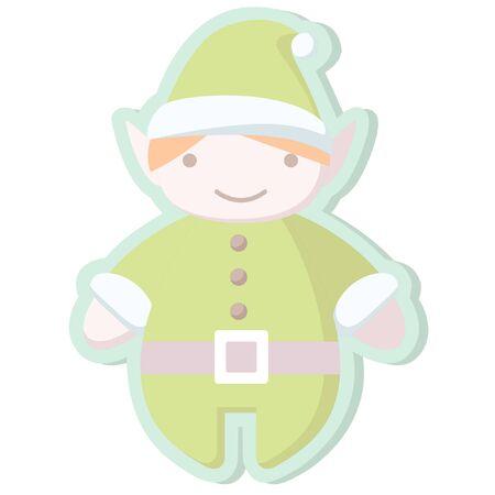 santa's helper: christmas cute santas helper sticker icon