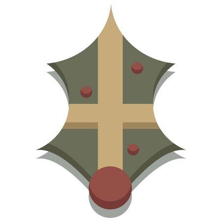 christmas icon: christmas seasonal mistletoe icon