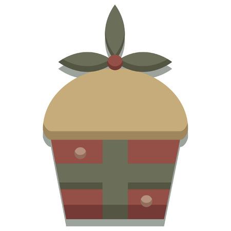 クリスマス季節のケーキ アイコン