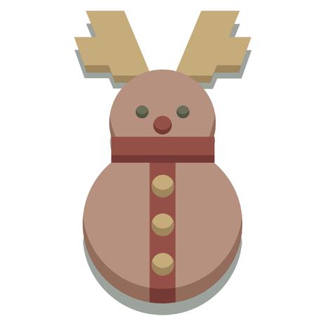 christmas icon: christmas seasonal reindeer icon