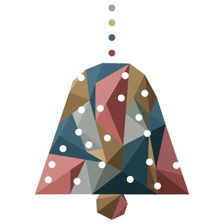 christmas abstract bell icon Иллюстрация