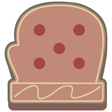 mitten: christmas gingerbread theme  mitten icon