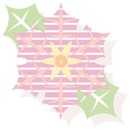 christmas icon: christmas poinsettia striped style icon