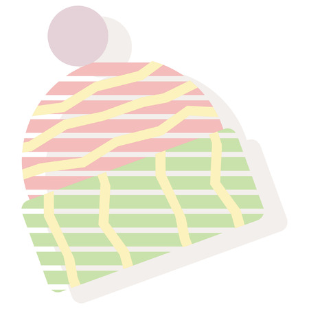 winter hat: christmas winter hat  striped style icon Illustration