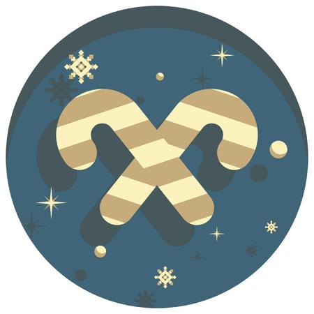 white christmas: white christmas theme style candy cane  icon