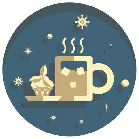 white christmas: white christmas theme style snacks  icon
