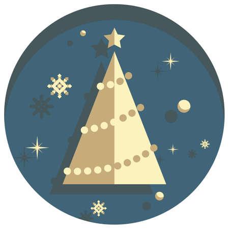 white christmas: white christmas theme style tree icon Stock Illustratie