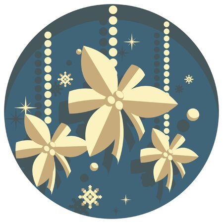 white christmas: white christmas theme style mistletoe icon