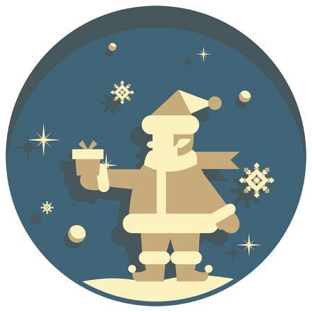 white christmas: white christmas theme style santa icon