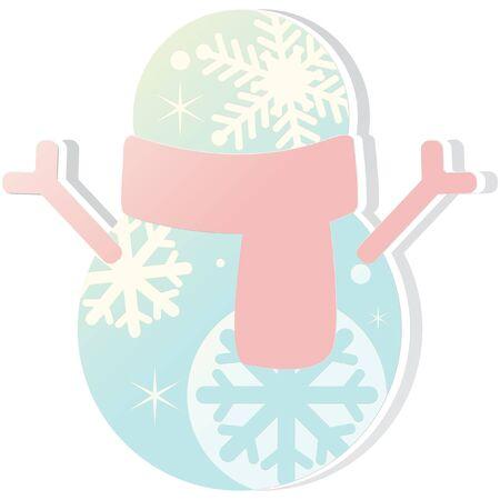 Kerst winter thema sneeuwpop pictogram