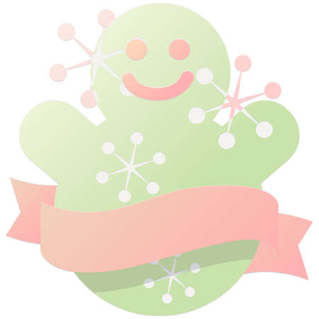 christmas icon: christmas gingerbread with ribbon icon Illustration