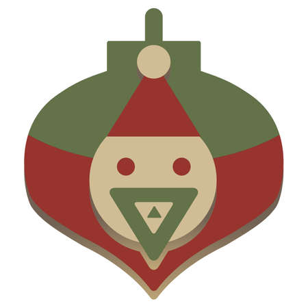 holiday celebrations: christmas simple embossed santa icon
