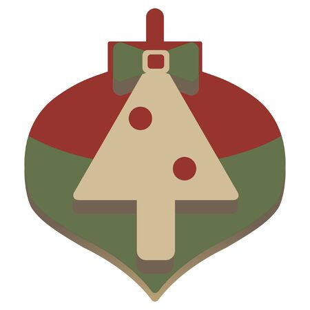 embossed: christmas simple embossed tree icon