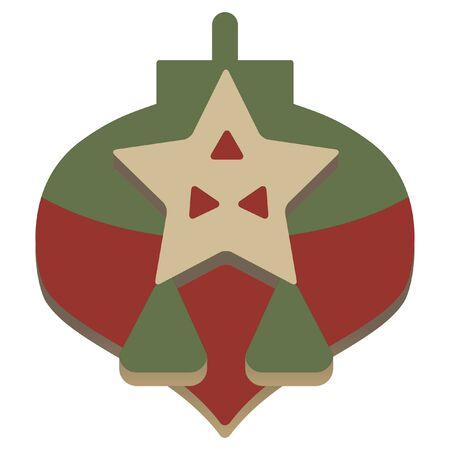 embossed: christmas simple embossed star lantern icon