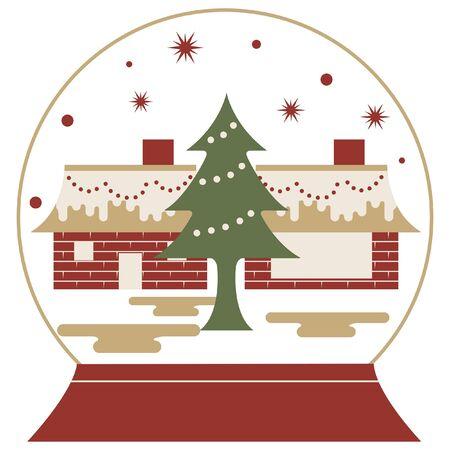 snowglobe: christmas in snowglobe icon