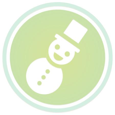 christmas icon: christmas glow snowman icon