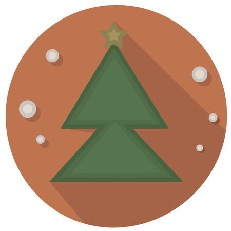 christmas icon: christmas vintage tree icon Illustration
