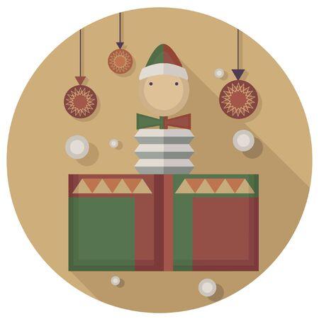 christmas icon: christmas vintage toy box icon